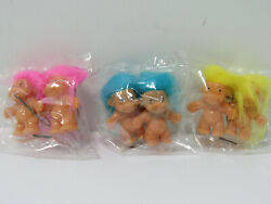 Troll Earrings Lot of 3 Pairs Vintage Retro Wonky and Generic