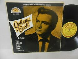 JOHNNY CASH vinyl lp SINGS THE SONGS THAT MADE HIM FAMOUS