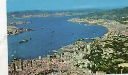 VICTORIA CITY AND THE HARBOR  HONG KONG  early chrome