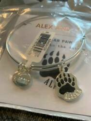NWT Alex and Ani Alaska Exclusive BEAR PAW 2019 Shiny Silver