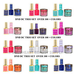DND DC 3in1 Gel Polish Dipping Powder Trio Set 3pc ***PICK YOUR COLOR*** $16.99