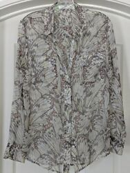 Equipment Silk Butterfly Blouse M