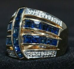14ct. Sapphire and Diamond Dress Ring Value over $6000 AUD - Pay with Crypto