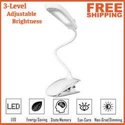 NEWEST USB Clip-On Desk Lamp LED Flexible Reading light Dimmable Table Lamps WF