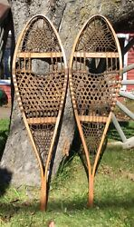 Pair Of Vintage TUBBS Michigan Model Snow Shoes Log Cabin Home Decor Display $145.00