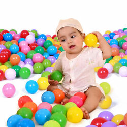 100pcs 80mm Secure Baby Kid Pit Swim Healing Soft Plastic Crystal Ocean Ball Toy