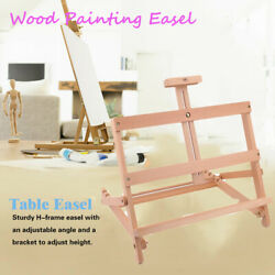 Portable Beech Wooden Table Easel Sketch Painting Display Picture Holder WY