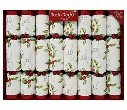 Robin Reed Joy Party Christmas Crackers English Holiday Favors Pack of 8 x 10