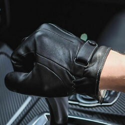Men Winter Warm Leather Gloves Driving Full Finger Touch Screen Mittens New C $7.18