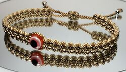 Evil Eye Amulet bracelet beige String Braided Bracelet -Evil Eye Protection new $8.95