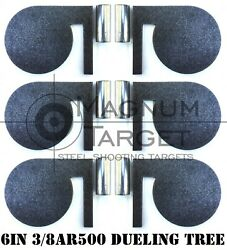 6quot;x 3 8quot; AR500 Steel Shooting Range Targets Dueling Trees Metal Paddles w tubes $78.99