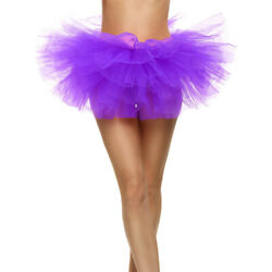 Ladies 5 Layered Skirts Tulle Fancy Mini Ballet Tutu Princess Party Dancing Sexy $20.61