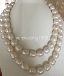 classic 12-15mm south sea white baroque pearl necklace 38inch 14k