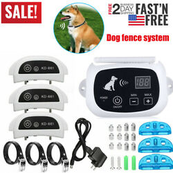 123 Electric Wireless Dog Fence No-Wire Pet Containment System Rechargeable US