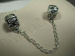 New Authentic Pandora Silver 925Ale Dreamer w Clips Safety Chain Charm 790583-0