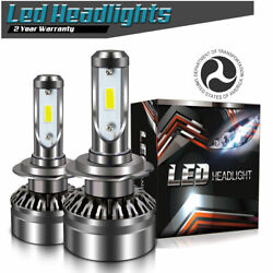 TURBOSII LED Headlight Kit H7 12Pcs CSP Chips for Mercedes-Benz GLK350 2010-2015