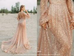 9 colors  Mermaid Glitter Bridal Dress Lux Sequin Rose Gold Beaded Dress 2020