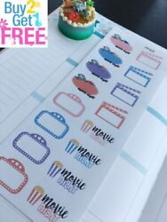 PP422 --  Movie Night Life Planner Sticker Kit for Erin Condren
