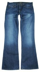 LUCKY BRAND womens Sofia Boot curvy mid rise dark wash jeans 14 x 33  $99 retail