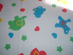 Vtg 60s Novelty Animals Baby Horse Elephant Duck Quilt Sew Fabric 46x42 #ff392 $6.79