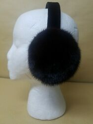 NEW REAL BROWN MINK FUR EARMUFFS MADE IN USA $48.00