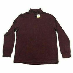 Club Room Mens 14 Zip Pullover Sweater Knit Red Variety Sizes