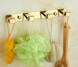 Wall Mounted Hooks Hanger Bath Towel Clothes Bathroom Accessories Holder Kitchen