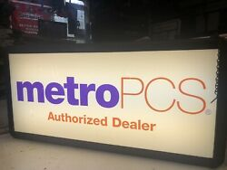 Metro PCS  Cell Phone Co.signdouble-sidedHanging sign led light box 31x15x6
