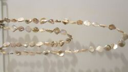 Pearl shell champagne  baroque  necklace 48