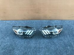FORD MUSTANG GT 2015-2017 OEM RIGHT AND LEFT XENON HEAD LIGHT (COMPLETE). 53K