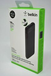 Belkin Boost Charge Portable Power Bank Battery 10000mAh Lightning for iPhones $19.95