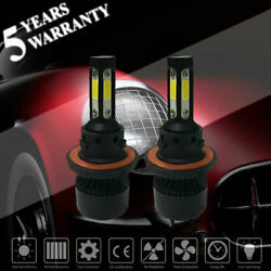 Pair 4 Sides H13 9008 2800W 420000LM LED Headlight Bulb HID HiLo Beam 6000K
