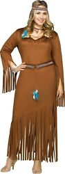 INDIAN SUMMER PLUS SIZE COSTUME POCAHONTAS NATIVE AMERICAN $42.95