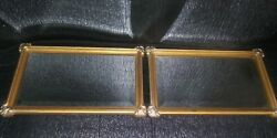 2 VINTAGE HOME INTERIORS HOMCO ACCENT WALL DECOR MIRRORS 10quot; x 6quot; ab3 $29.99
