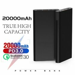 Portable PD Power Bank 20000mAh 45W USB TYPE-C QC3.0 Quick Charge Home  $12.38