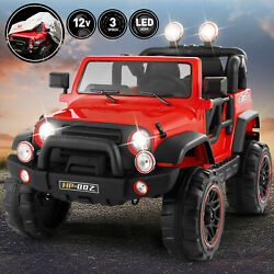 12V Red Electric Kids Ride on Car Truck Toy 3Speeds MP3 LED Remote ControlCover $199.99