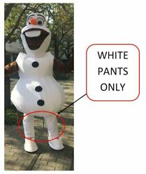 Snowman Olaf WHITE PANTS Mascot Costume Adult Birthday Party Girl Boy Cosplay $19.99