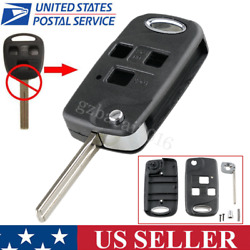 Upgrade Flip Folding Remote Key Fob Case Shell For Lexus IS200 LS400 RX300 GS300 $8.39
