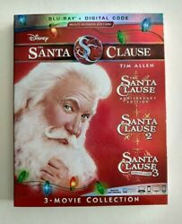 The Santa Clause:3-Movie Collection 1 2 3 (Blu-ray 2019) No Digital Tim Allen
