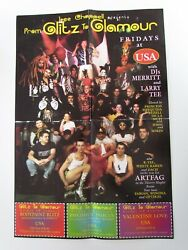 CLUB USA Thierry Mugler Room Poster 90s Old nYc Nightlife Flier rare