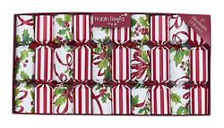 Robin Reed Christmas Crackers Ribbons and Holly Holiday Party Favors 10 Pieces $24.95
