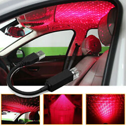 USB Car Atmosphere Lamp Ambient Star Light LED Projector Starry Lamp Accessories $3.99