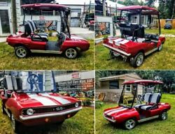 69 Camaro Custom Golf Cart Body Kit CLUB CAR DS includes lights and grill