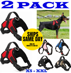 2-PACK Dog Pet Vest Harness Strap Adjustable Nylon Small Medium Large XL No Pull $9.95