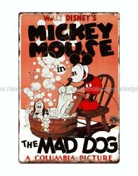 Mickey Mouse in the mad dog metal tin sign metal retro rustic signs $15.75