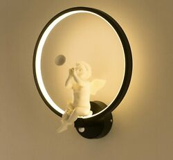 Wall Lamp LED Angel Modern Creative Bedroom Beside Wall Light Living Room Dining $70.89
