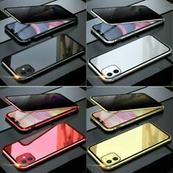 Anti-peep Privacy Magnetic Double-side Glass Phone Case For iPhone 11 Pro Max XR