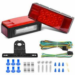 Nilight 2PCS Submersible Kit LED Stop Tail Turn Signal Side Marker Light 12V RV $35.99