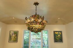 Vintage Murano Glass Chandelier And Matching Sconces $23999.00