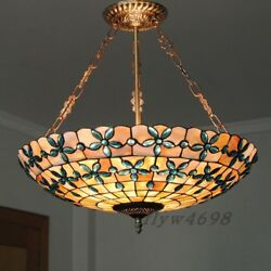 20quot; Tiffany Stained Glass Pendant Lamp Handcrafted Drum Chandelier Lighting New $249.99